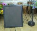 3 Watt Solar Panel Power Submersible Fountain Pond Water Pump Battery LED