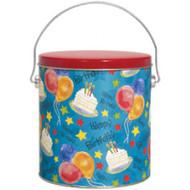 1 Gallon New Birthday Popcorn Tin