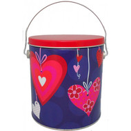1 Gallon Heartstrings Popcorn Tin