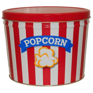 2 Gallon Blue Ribbon Popcorn Tin