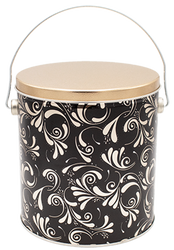 1 Gallon Dazzling Popcorn Tin. The perfect design to pick for any occasion!