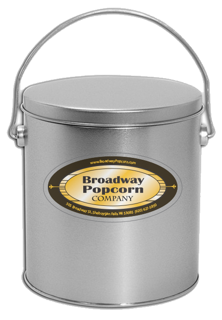 1 Gallon Solid Platinum Popcorn Tin