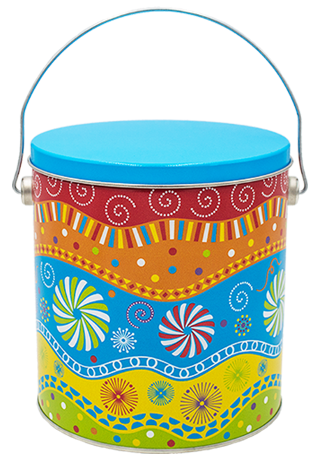 I Gallon Panache Popcorn Tin - Add one of your favorite flavors and put a smile on anyone's face!