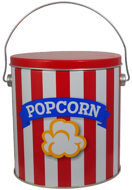 1 Gallon Blue Ribbon Striped Popcorn