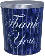 3.5 Gallon Blue Thank You Popcorn Tin