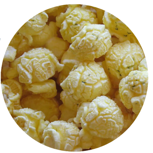 Dill pickle flavored popcorn