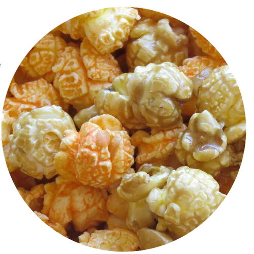 Broadway Mix - Buttery-sweet Caramel corn with robust, full-bodied Cheddar.