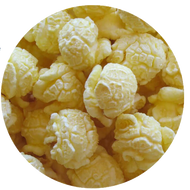 White Cheddar Gourmet Popcorn from Broadway Popcorn. Popped fresh daily!