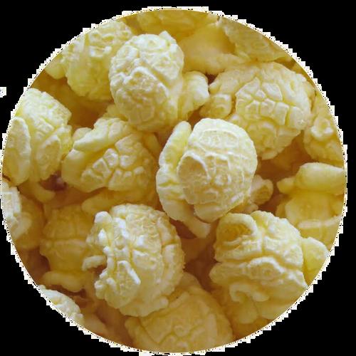 White Cheddar Gourmet Popcorn from Broadway Popcorn. Popped fresh daily!