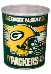 1 Gallon Green Bay Packers Popcorn Tin