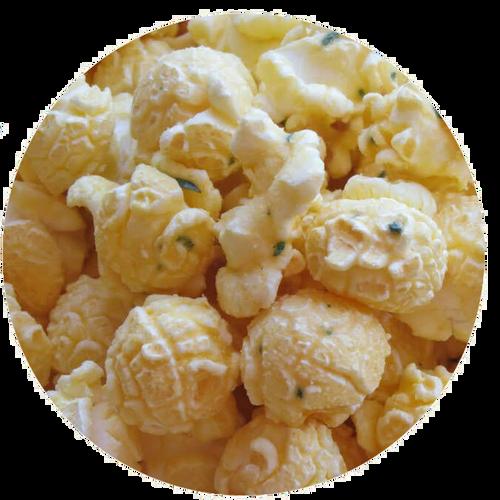 Parmesan garlic flavored popcorn
