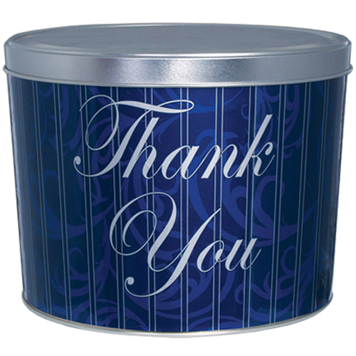 "2-Gallon ""Thank You"" Design Popcorn Tin"