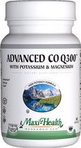 Maxi Health - Advanced Co Q 300 mg With Potassium & Magnesium - 60 MaxiCaps - DoctorVicks.com