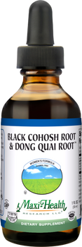 Maxi Health - Black Cohosh Root & Dong Quai Root - Women's Formula - 1 fl oz - New - DoctorVicks.com