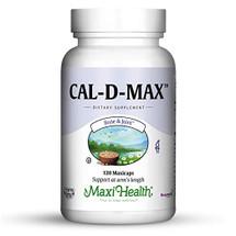 Maxi Health - Cal-D-Max - Kosher Calcium & D3 - 120 MaxiCaps