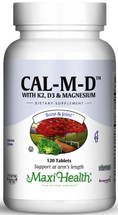 Maxi Health - Cal-M-D With K2, D3 & Magnesium - 120 Tablets - Improved - DoctorVicks.com