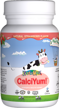 Maxi Health - KiddieMax - Chewable CalciYum! - Strawberry Flavor - 90/180 Chewies - DoctorVicks.com