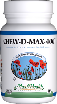 Maxi Health - Chew-D-Max - Vitamin D3 400 IU - Berry Flavor - 100 Chewies - New - DoctorVicks.com