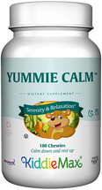 Maxi Health - KiddieMax - Chewable Yummie Calm - Calm & Focus Formula - Bubble Gum Flavor - 90/180 Chewies - DoctorVicks.com