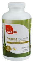 Zahler's - Omega 3 Platinum + D3 2000 IU - 180 Softgels - DoctorVicks.com