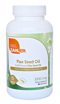 Zahler's - Flax Seed Oil 1000 mg - 90 Softgels - DoctorVicks.com