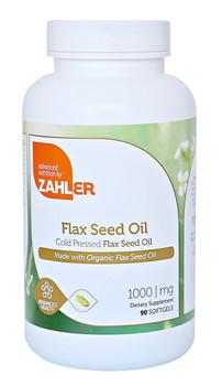 Zahler's - Flax Seed Oil 1000 mg - 90 Softgels - DoctorVicks.com