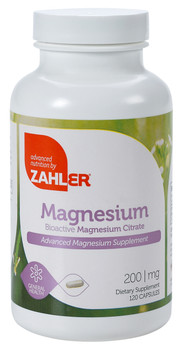 Zahler's - Magnesium Citrate 200 mg - 120 Capsules - DoctorVicks.com