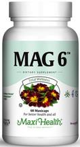 Maxi Health - Mag 6 - Magnesium & B6 - 60/120 MaxiCaps - DoctorVicks.com
