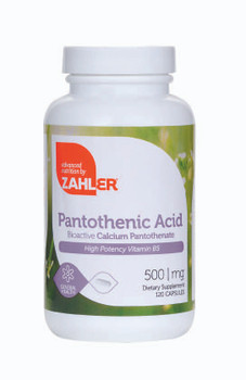 Zahler's - Pantothenic Acid - Stress Reliever - 120 Capsules - DoctorVicks.com
