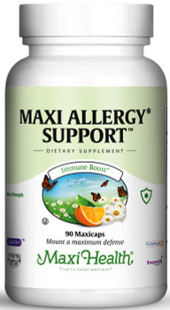 Maxi Health - Maxi Allergy Support With Probiotics - 90/180 MaxiCaps - DoctorVicks.com