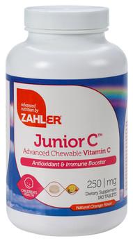 Zahler's - Junior C 250 mg - Orange Flavor - 180 Chewies - DoctorVicks.com