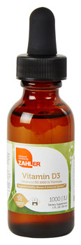 Zahler's - Liquid Vitamin D3 1000 IU - Orange Flavor - 1 fl oz - © DoctorVicks.com