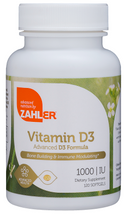 Zahler's - Vitamin D3 1000 IU - 120 Softgels - DoctorVicks.com