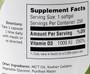 Zahler's - Vitamin D3 1000 IU - 250 Softgels - Enlarged Supplement Facts - DoctorVicks.com