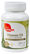 Zahler's - Vitamin D3 2000 IU - 120 Softgels - Front - DoctorVicks.com