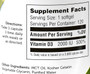 Zahler's - Vitamin D3 2000 IU - 120 Softgels - Enlarged Supplement Facts - DoctorVicks.com