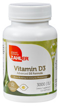 Zahler's - Vitamin D3 3000 IU - 120 Softgels - Front - DoctorVicks.com