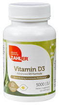 Zahler's - Vitamin D3 5000 IU - 120 Softgels - Front - DoctorVicks.com