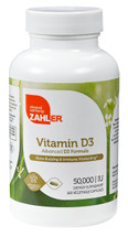 Zahler's - Vitamin D3 50000 IU - 120 Softgels - Front - DoctorVicks.com