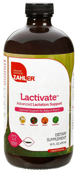 Zahler's - Lactivate - Orange Raspberry Taste - 16 fl oz - Front - DoctorVicks.com
