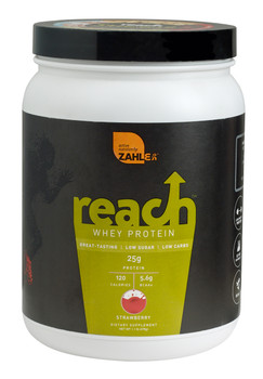 Zahler's - Reach - Whey Protein - Strawberry Flavor - 1.1 lb Powder - DoctorVicks.com