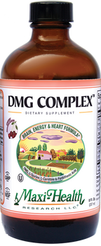 Maxi Health - Liquid DMG Complex - Brain & Energy Formula - Berry Flavor - 8 fl oz - Large - DoctorVicks.com