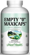 "Maxi Health - Empty ""0"" MaxiCaps - Large Kosher Empty Vegetarian Capsules - 250 MaxiCaps - DoctorVicks.com"
