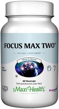 Maxi Health - Focus Max Two - Improved Focus & Memory Formula For Seniors - 60 MaxiCaps - DoctorVicks.com