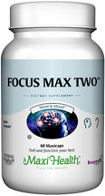 Maxi Health - Focus Max Two - Improved Focus & Memory Formula For Seniors - 60 MaxiCaps - DoctorVicks.com