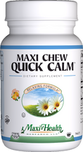 Maxi Health - Maxi Chew Quick Calm - Stress Reliever - Orange Flavor - 90 Chewies - DoctorVicks.com