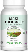 Maxi Health - Maxi Folic Acid 800 mcg - 90 MaxiCaps - DoctorVicks.com