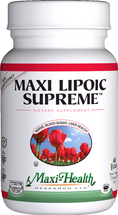 Maxi Health - Maxi Lipoic Supreme - For High Blood Sugar - 60 MaxiCaps - DoctorVicks.com