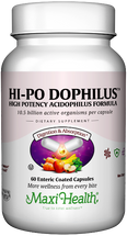 Maxi Health - Hi-Po Dophilus - High Potency Acidophilus - 60/120 MaxiCaps - DoctorVicks.com