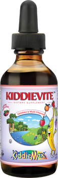 Maxi Health - KiddieMax - Liquid Kiddievite - Multivitamin & Mineral - Fruit Punch Flavor - 4 fl oz - DoctorVicks.com